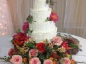 4 tier wedding love cake