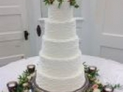5 tier wedding cake floral base