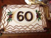 60th rectangular cake