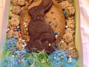 big rabbit cookie with mini cookies packaged