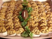 cookies with football decor