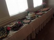 full table dessert spread