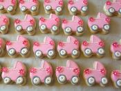 pink carriage cookies
