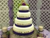 purple band cake