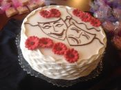theater masks cake
